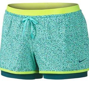 NIKE Full Flex 2-n-1 Training Running Gym Shorts S
